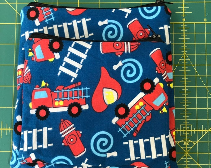 Reusable Snack and Sandwich Bag Fire Truck