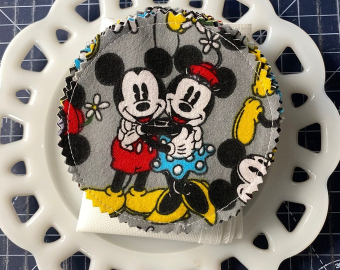 Mickey and Minnie Mouse Reusable Cotton Rounds