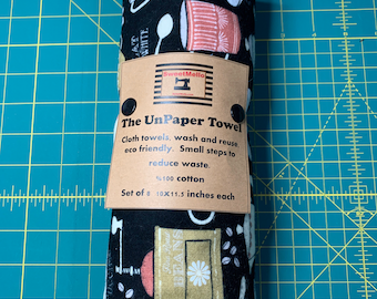 Reusable Unpaper Towel Vintage Coffee