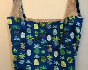 Pineapple Reversible Market Bag