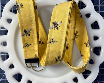Bee's Life on Yellow Lanyard