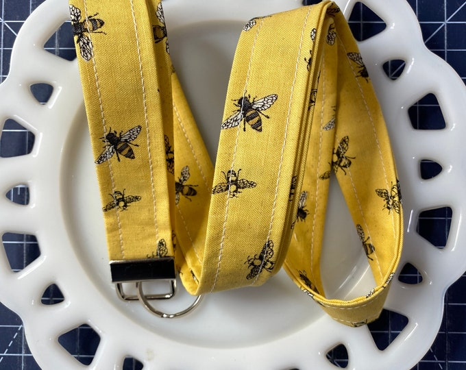 Bee's Life on Yellow Lanyard