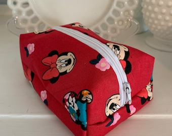 Pink Raspberry Minnie Mouse Cosmetic Case