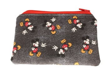 Distressed Mickey Coin Purse