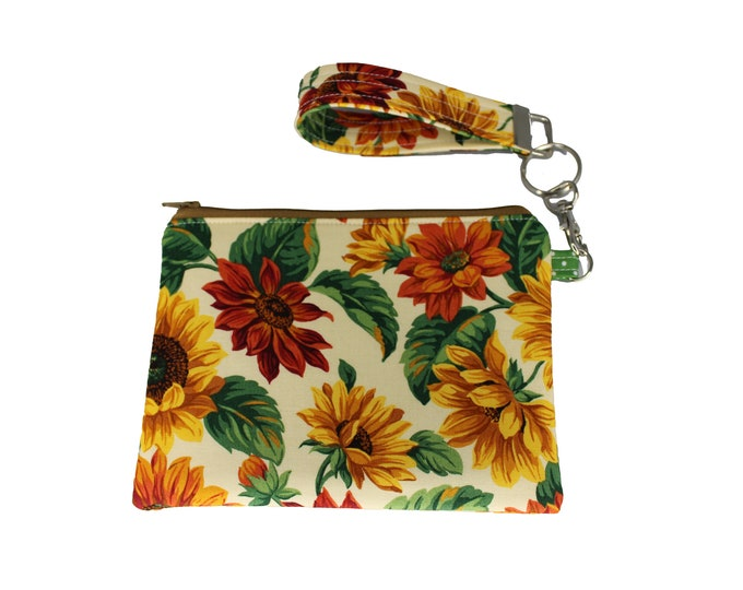 Sunflower Carly Wristlet