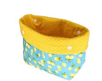 Aqua Lemon Michele Basket