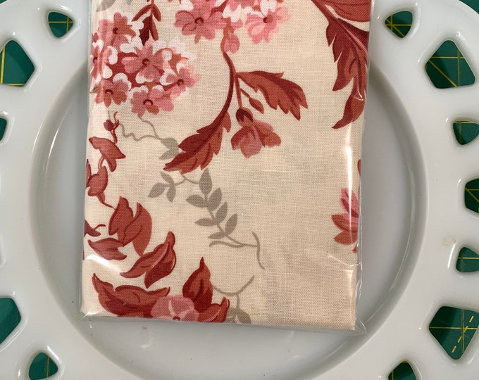 Taupe and Brick Floral Lunch Box Napkin