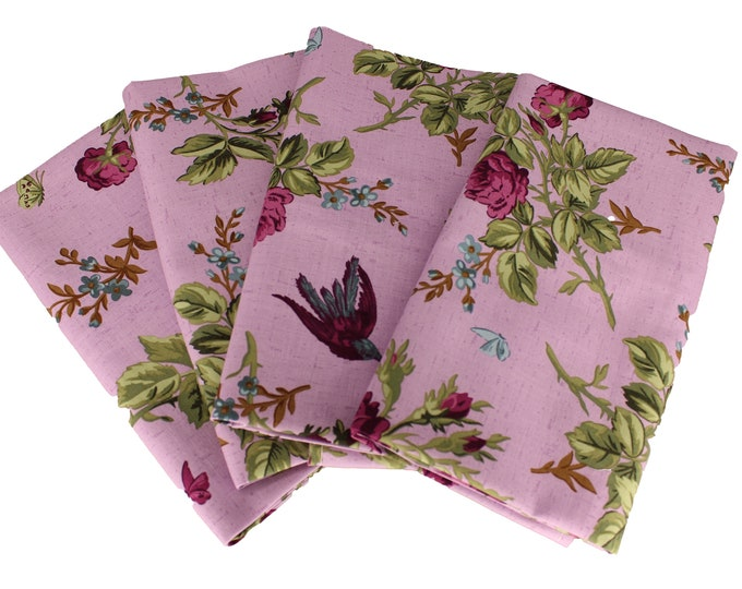 Lavender Floral Cloth Napkin