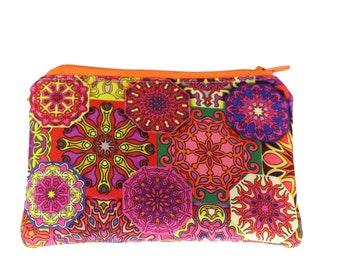 Orange Mandala Coin Purse