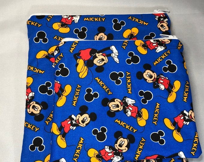 Reusable Snack and Sandwich Bag Blue Mickey Mouse