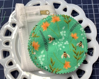 Green Bee Reusable Cotton Rounds