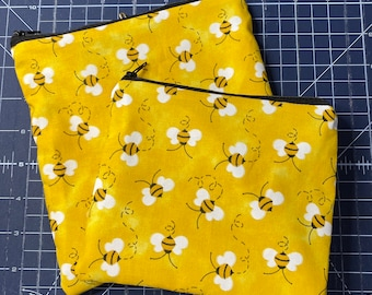 Reusable Snack and Sandwich Bag Yellow Bee