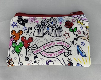 Disney Dooney Inspired  Coin Purse
