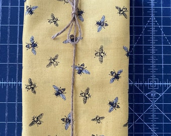 Save the Bees Yellow Cloth Napkin