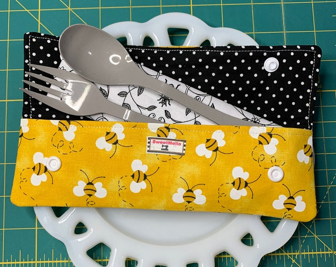 Yellow Bee Cutlery Case