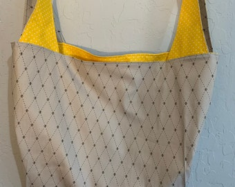 Grey Bumblebee Reversible Market Bag