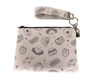 Grey Star Wars Carly Wristlet