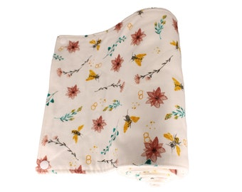 Reusable Unpaper Towel Floral Bee
