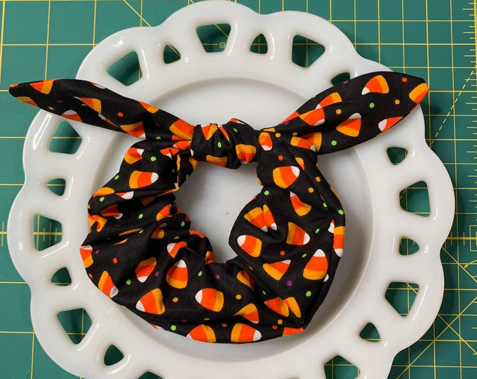 Bow Tie Scrunchie Candy Corn