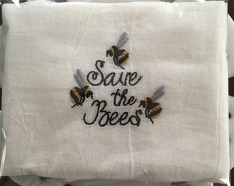 Save the Bees  Tea Towel