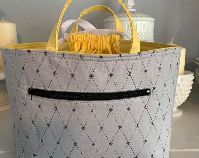 Grey Bee Juniper Bag