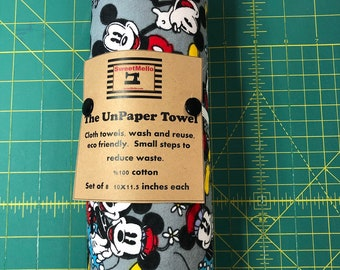 Reusable Unpaper Towel Mickey Mouse