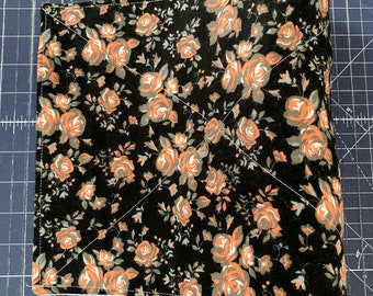 Reusable Unpaper Towel Black and Pink Floral
