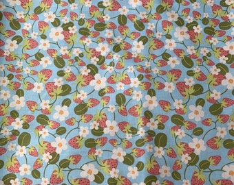 Aqua Strawberry Cloth Napkin
