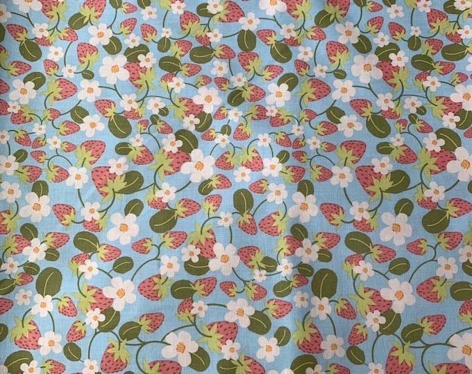 Aqua Strawberry Cloth Napkin