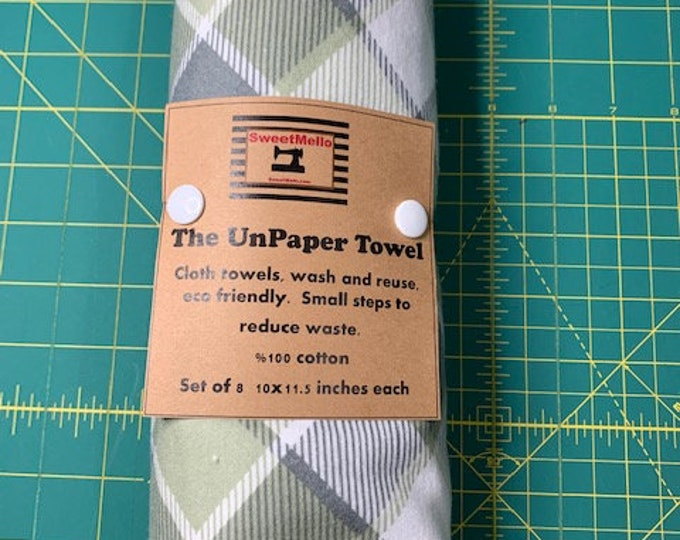 Reusable Unpaper Towel Sage Checker