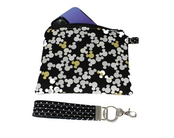 Golden Mickey Carly Wristlet