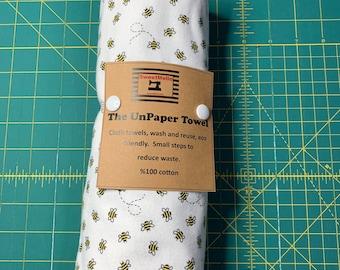 Reusable Unpaper Towel Petite Bee