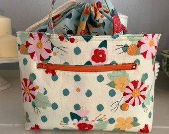 Cream Floral Juniper Bag