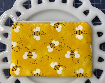 Yellow Bee Coin Purse