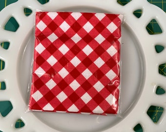 Red Gingham Lunch Box Napkin
