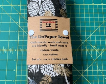 Reusable Unpaper Towel Brown Pine