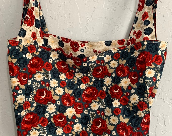 American Legacy  Floral Reversible Market Bag