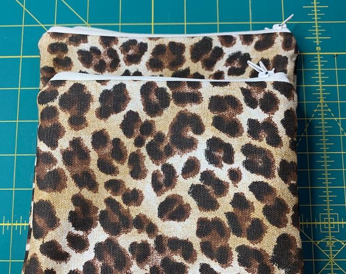Reusable Snack and Sandwich Bag Leopard