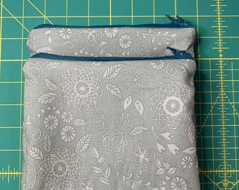 Reusable Snack and Sandwich Bag Mono Grey