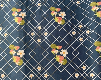 Navy Strawberry Cloth Napkin
