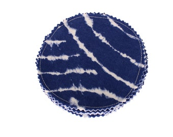 Reusable Cotton Rounds Blue TieDye