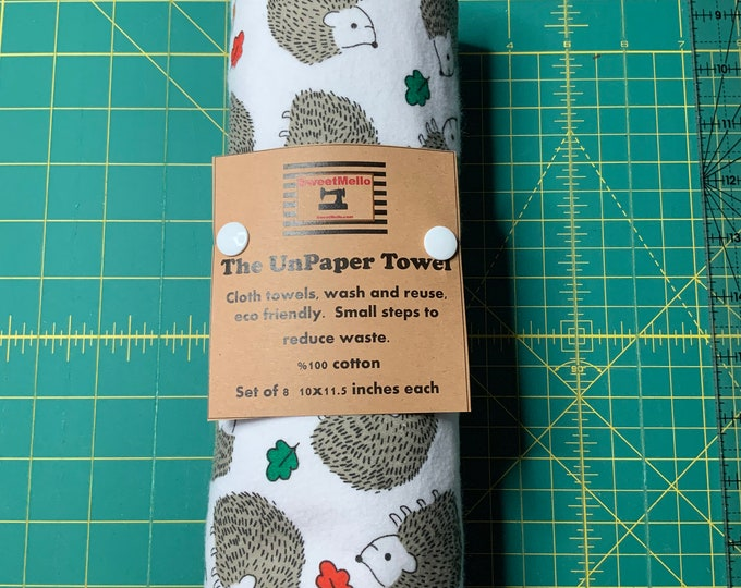 Reusable Unpaper Towel Hedgehog