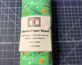 Reusable Unpaper Towel Green Bee