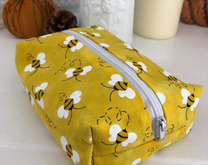 Yellow Bumble Bee Cosmetic Case
