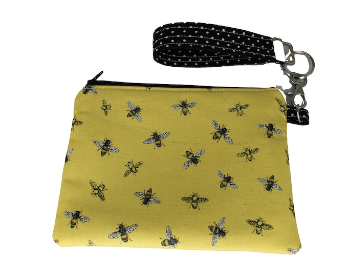 Yellow Bee Carly Wristlet