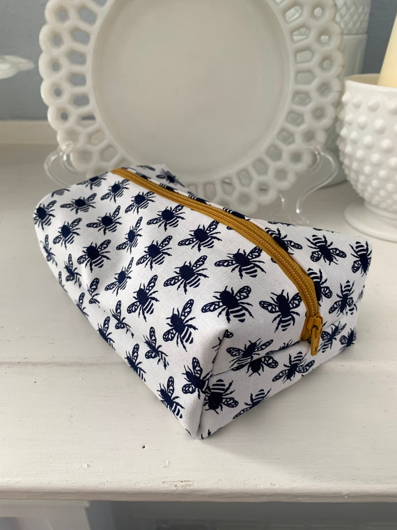 Navy Bumble Bee Cosmetic Case