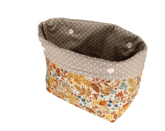Taupe Floral Michele Basket