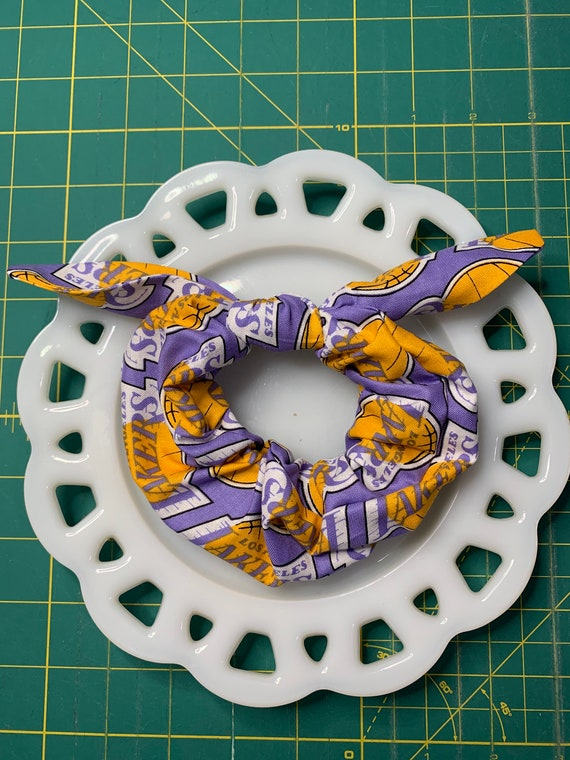 Bow Tie Scrunchie Lakers