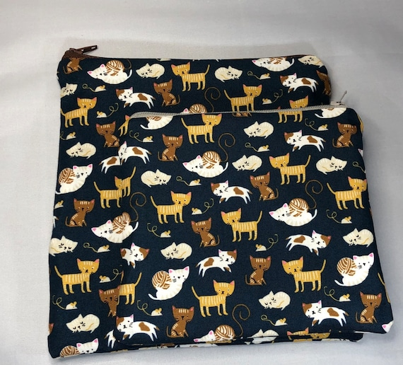 Reusable Snack and Sandwich Bag Cats