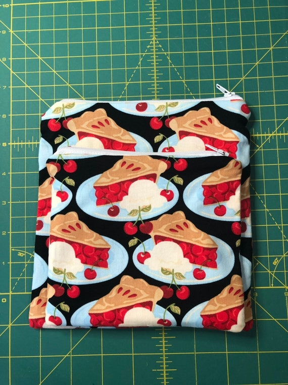 Reusable Snack and Sandwich Bag Cherry Pie